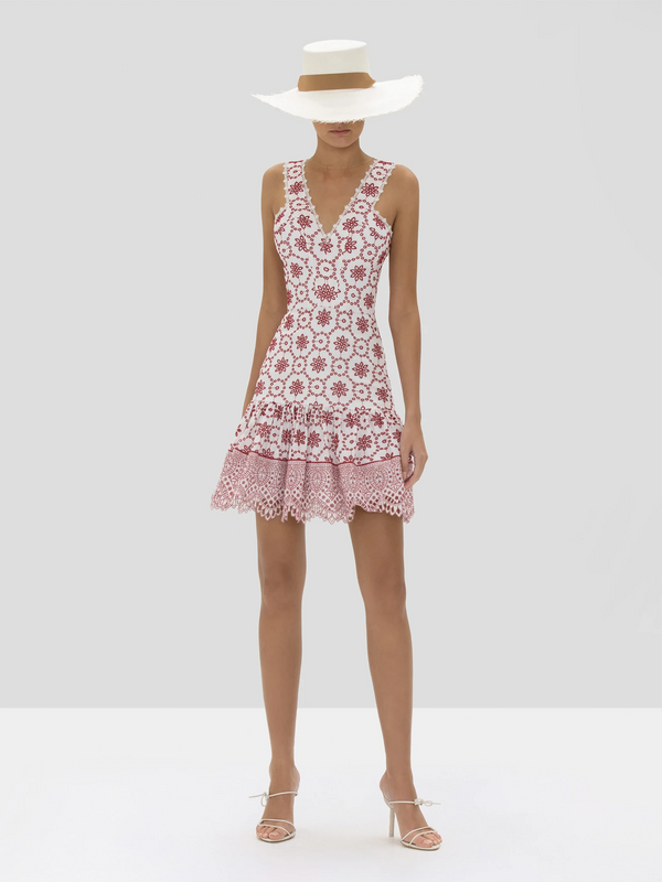 Alexis - Villa Dress - Berry Eyelet