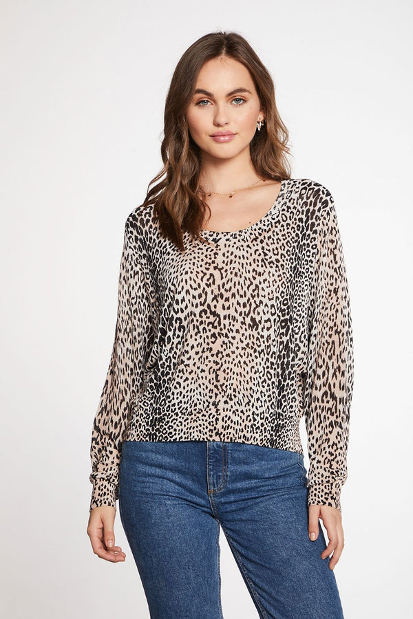 Chaser -VISCOSE BLEND oversized sweater - Mico Animal Print