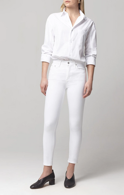 Citizens of Humanity - Rocket Crop Mid Rise Skinny - White Sculpt