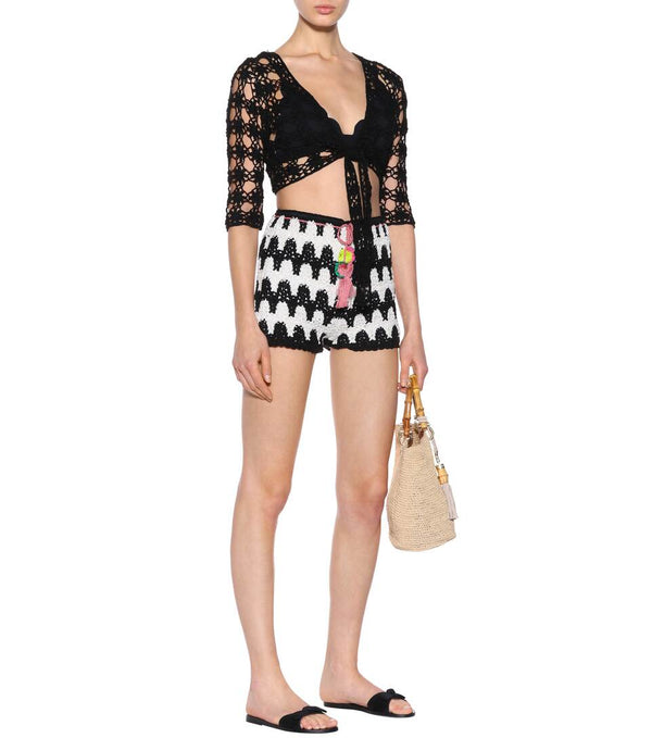 Anna Kosturova - Zebra Shorts - Black/Cream