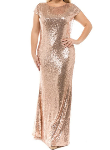 Sequined Bodycon Dress (champagne, burgundy)