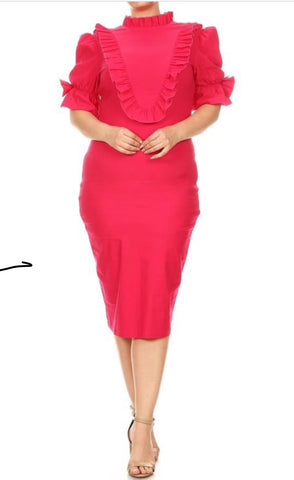 Elizabeth Social Dress  (L-3XL) other colors available