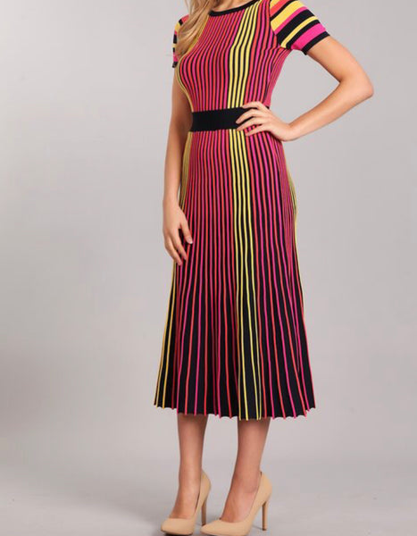 New Lemonade Midi Dress (Sm- XL)