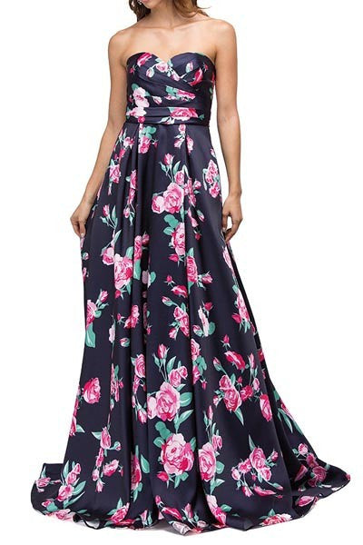 Floral Sweetheart Gown