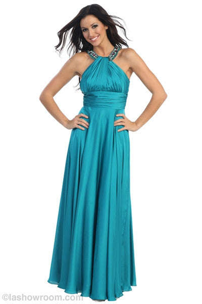 Full length halter gown