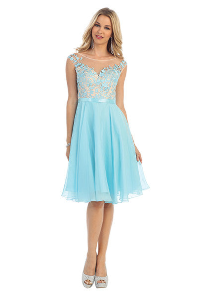 Sheer Formal Cocktail Dress (other colors available)