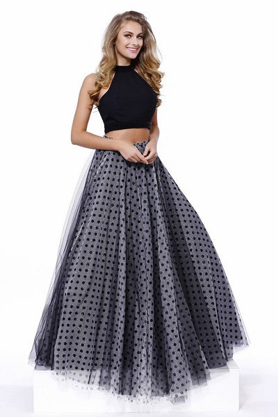 2 Piece Polka Dot Gown