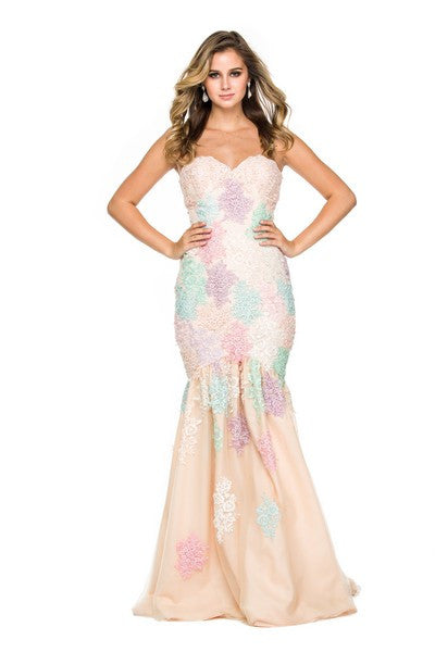 Flower Power~ Strapless Gown
