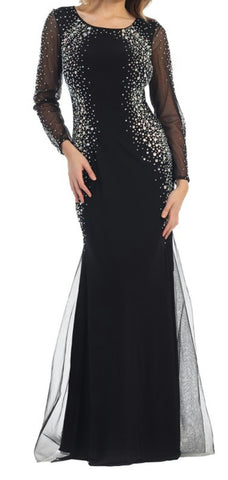 Black Bedazzled Gown