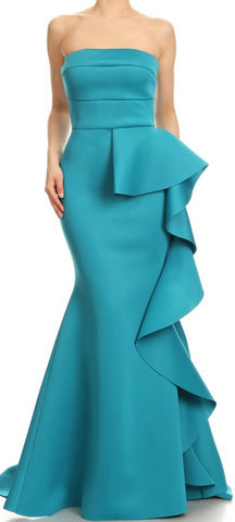 Side Ruffle Flex Gown (other colors available)
