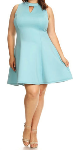 Solid Skater Dress (L- 3XL) other colors available
