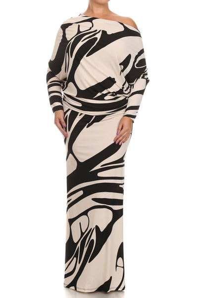 Abstract Print Multi-Way Dress (Plus Size)