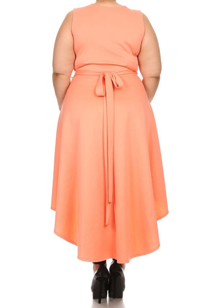 Fit and Flare Dress- (XL-3XL)