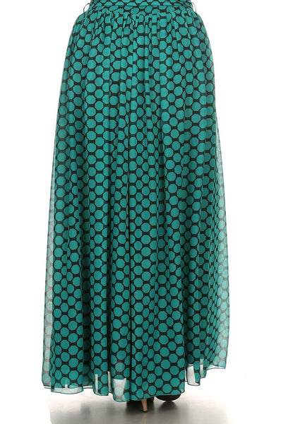 Octagon Print Maxi Skirt (other colors available)
