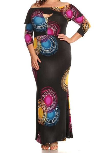 Circular Madina Zipper Dress (XL-3XL)