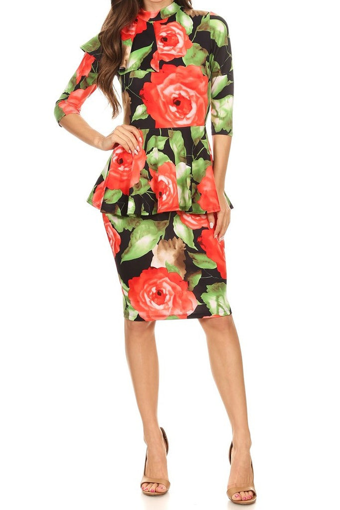 Floral Gina Dress (S-XL)