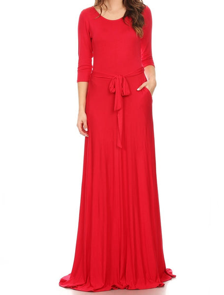 Solid Maxi Dress (other colors available)