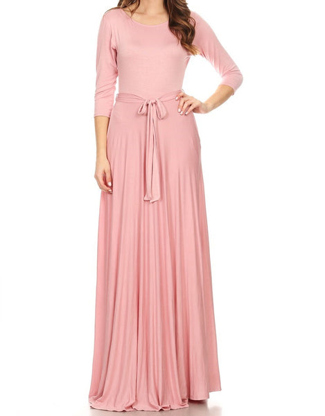 Solid Maxi Dress (S-L)