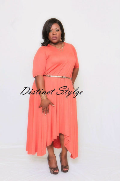 Relaxed Hi-low Dress (XL-4XL) other colors available