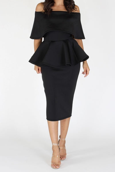 Princess Peplum Dress (XL-3XL)