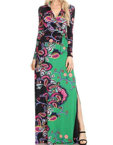 Paisley Duo Maxi Dress (2XL/3XL only)