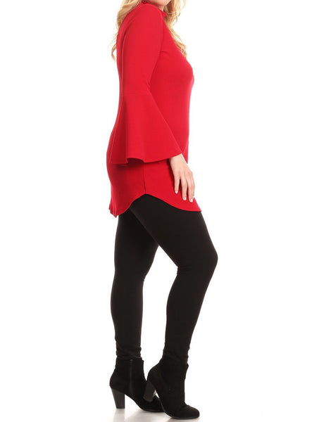 Red Bell Sleeve Top (XL-4X)