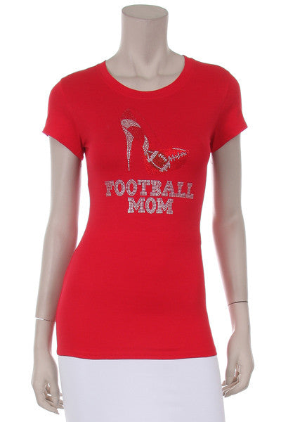"Football mom ""sexy heel"" t-shirt (other colors available)"