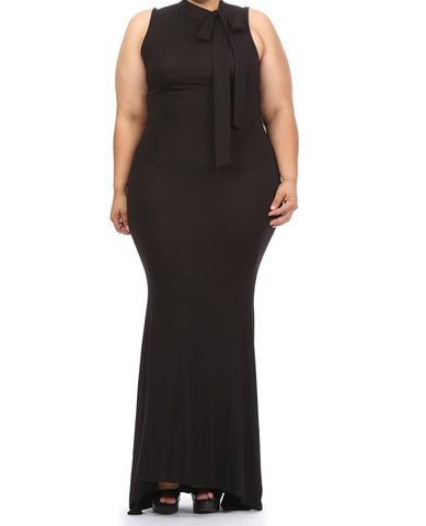 Black Mockneck Maxi (L-3XL) -Other colors available!!