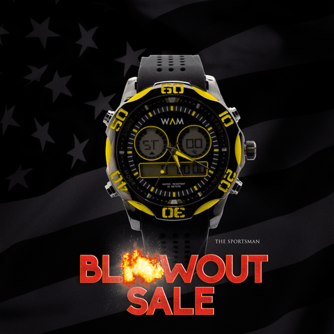 Black & Yellow Sportsman Watch