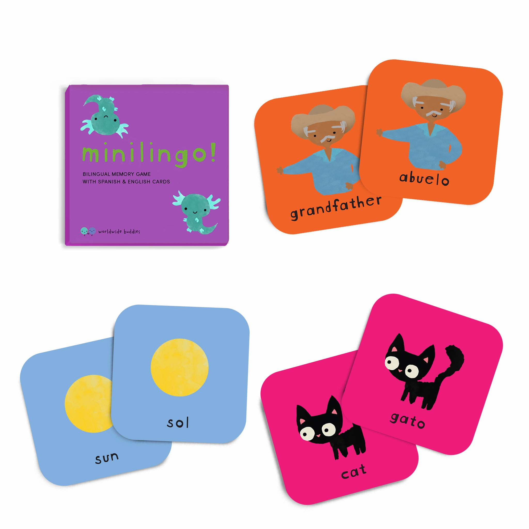 Minilingo, Spanish/English Bilingual Cards