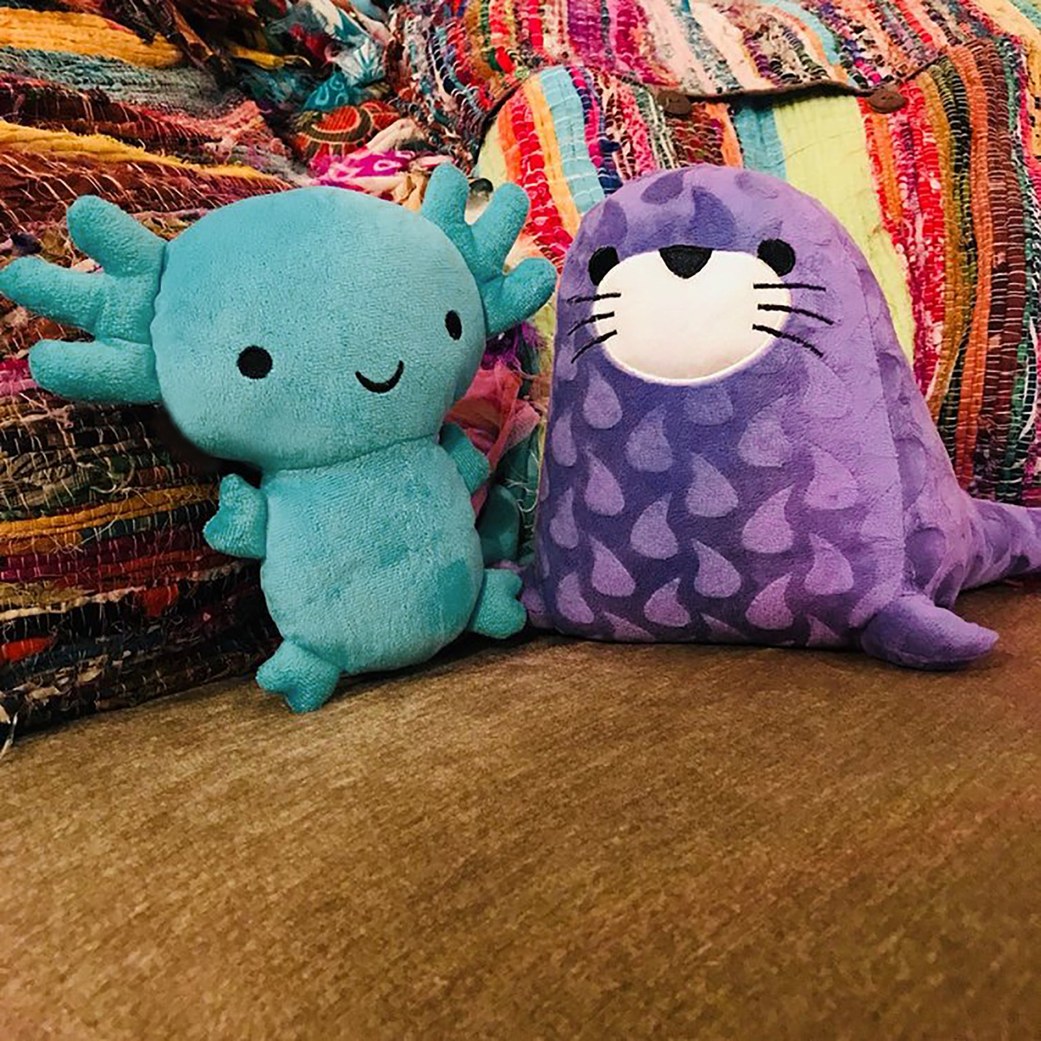 Axolotl and Spotted Seal Plush Toys