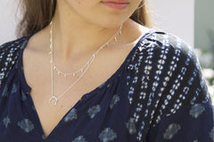 Silver Chilli Pod Necklace - Mary-K