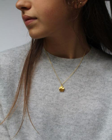 Gold Cornflake Necklace - Mary-K
