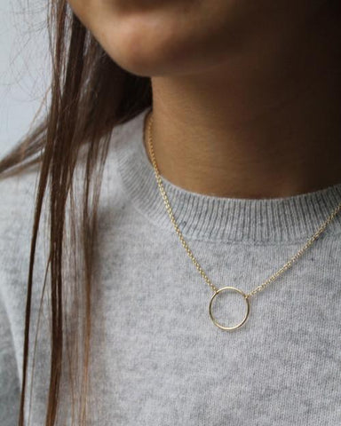 Gold Circle Necklace - Mary-K