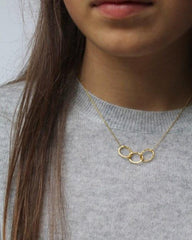 Gold 3 Oval Link Necklace - Mary-K