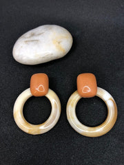 Costume Hoop Resin Earring - Aoife
