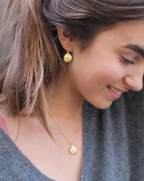 Gold Cornflake Earrings - Mary-K