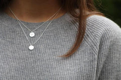 Silver Token Necklace - Mary-K
