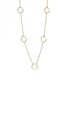 Mary K Vermeil Circle Link Necklace