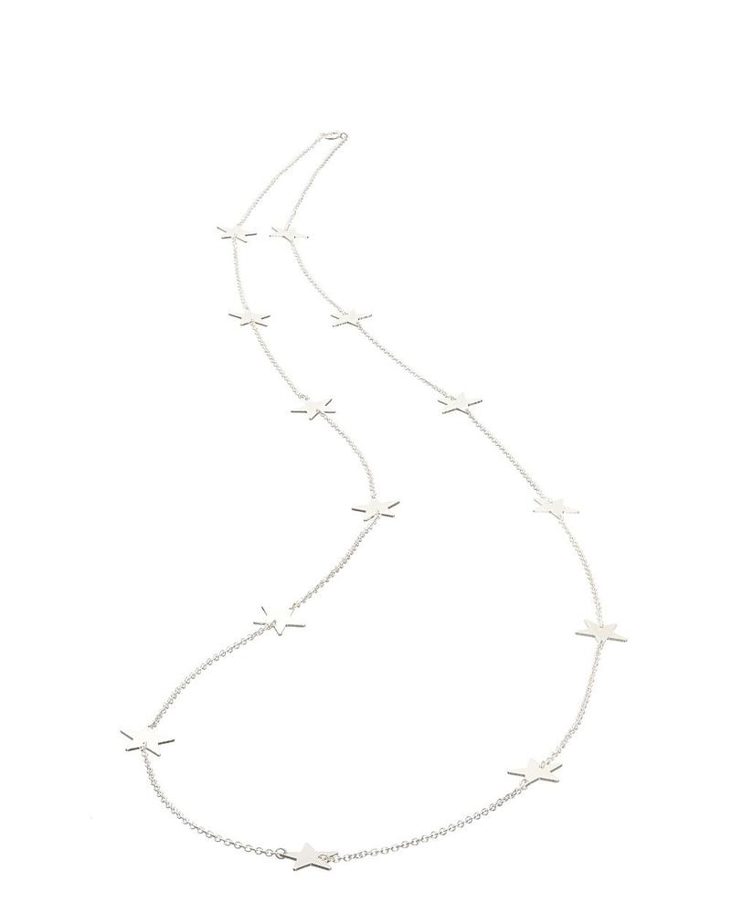 Mary K Long Silver All Star Necklace