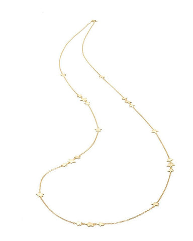 Mary K Long Gold Necklace Scattered Star