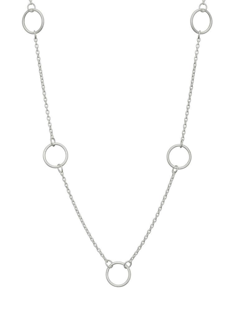 Silver 9 Circle Necklace Mary K