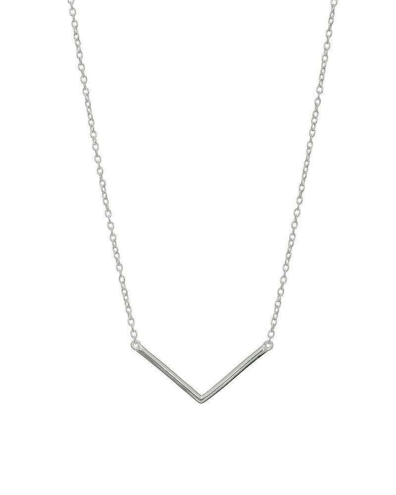 Silver V Necklace Mary K