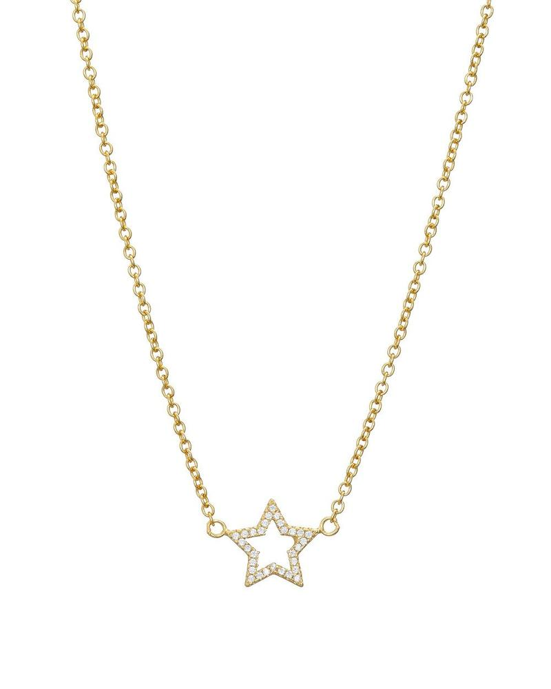 Gold Pave Star Necklace - Mary-K