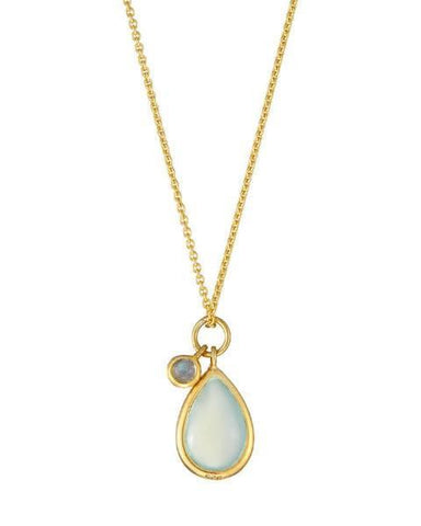 Mary K Aqua Teardrop Necklace