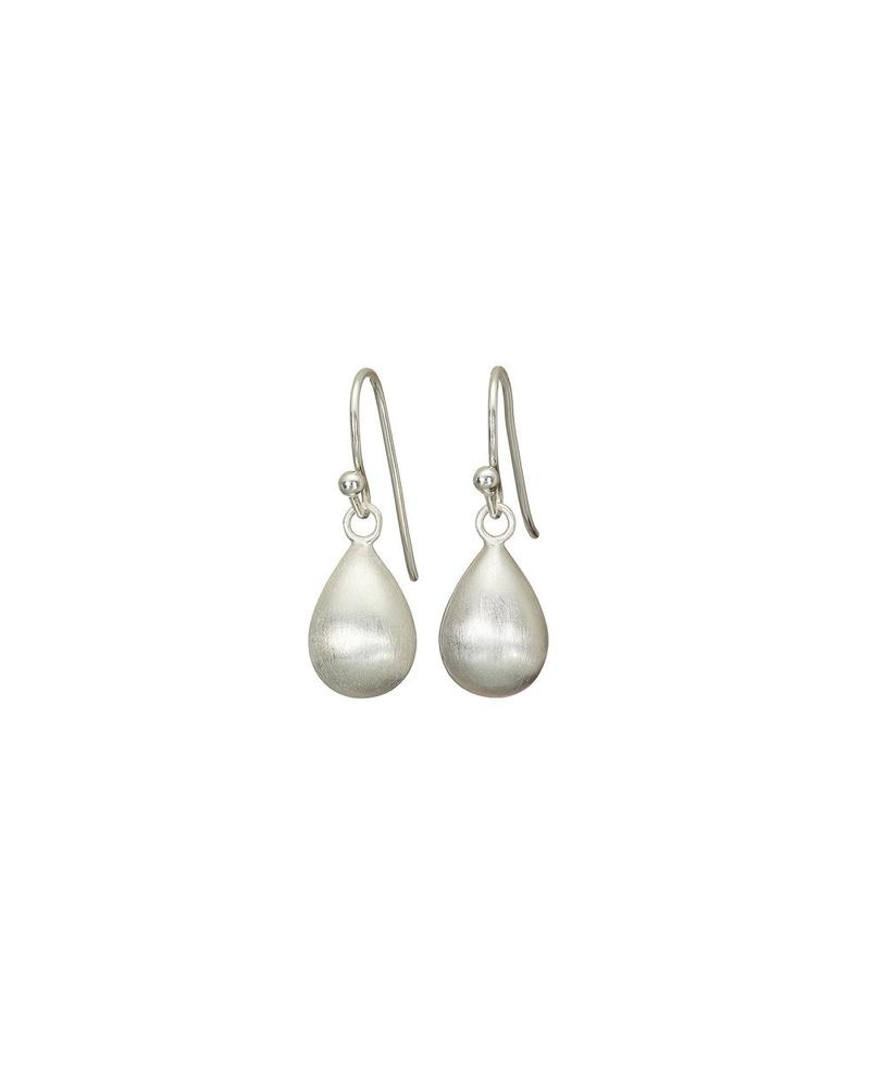 Silver Pear Drop Mary K Earrings