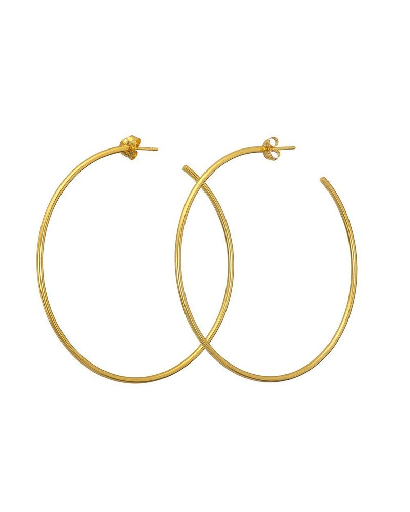Gold Large Hoop Mary K Earring