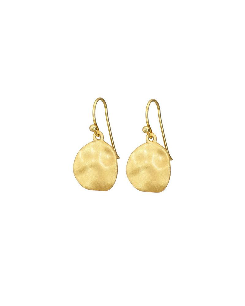 Gold Mary K Cornflake Earrings