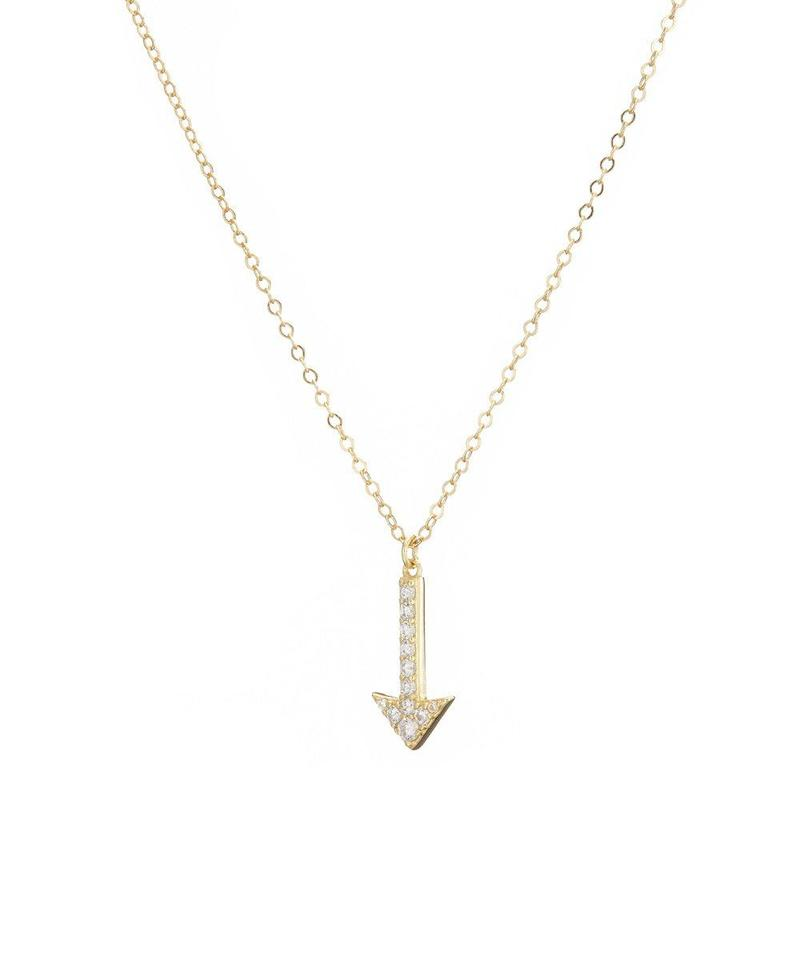 Gold Pave Arrow Necklace