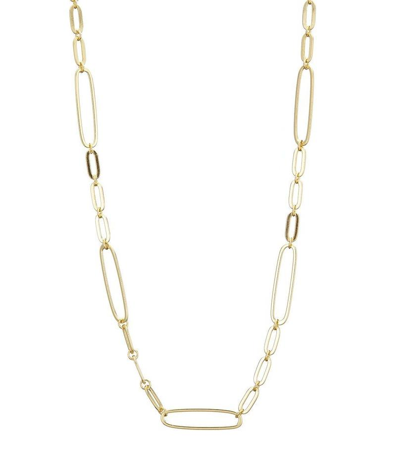 Gold chunky Mixed Link Chain Necklace